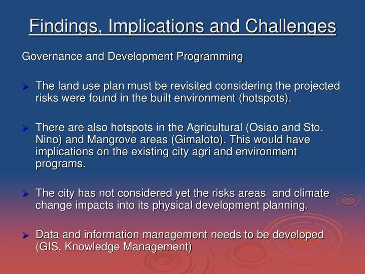 Governance and Development Programming