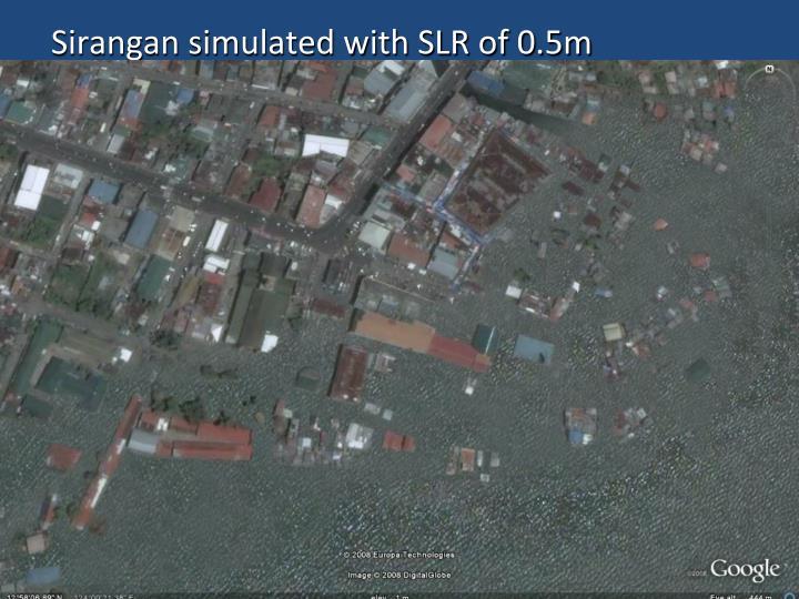 Sirangan simulated with SLR of 0.5m