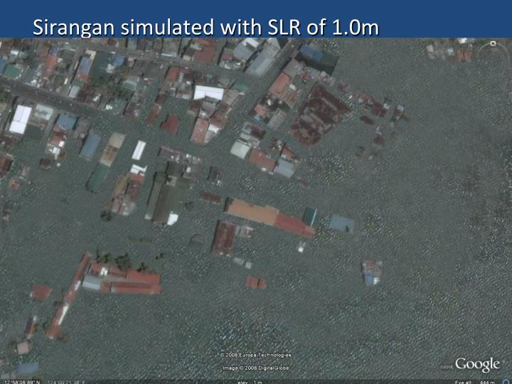 Sirangan simulated with SLR of 1.0m