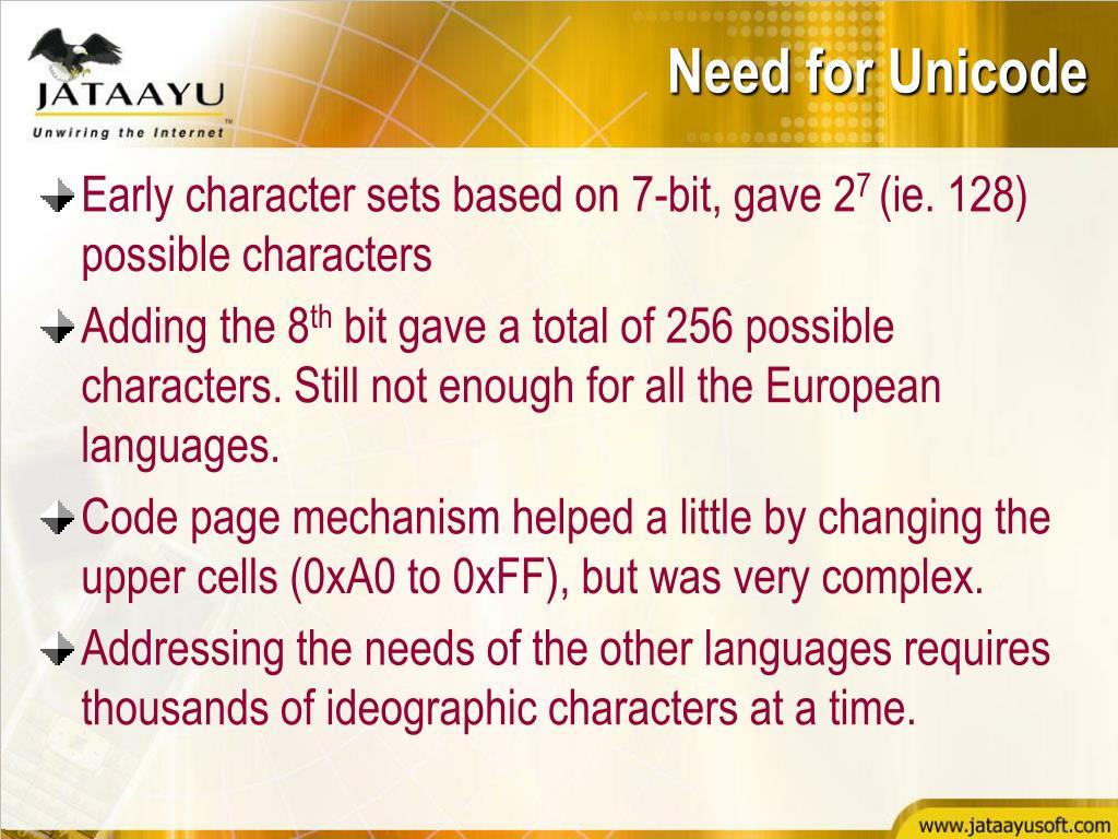 PPT - Unicode & W3C Jataayu Software PowerPoint Presentation - ID