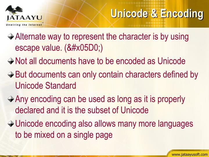 Unicode & Encoding