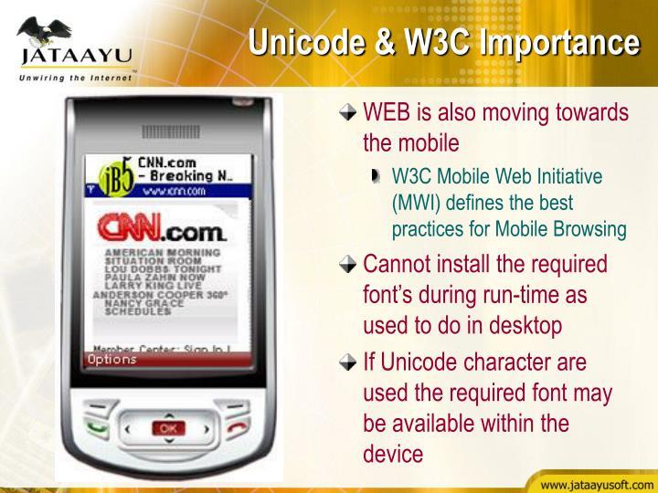 Unicode & W3C Importance