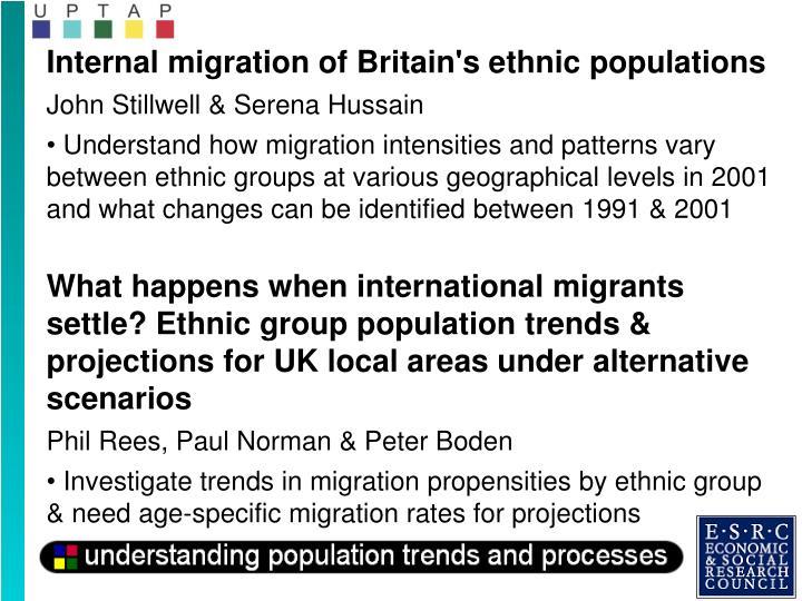 Internal migration of Britain's ethnic populations