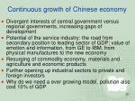 continuous growth of chinese economy