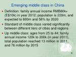 emerging middle class in china