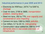 industrial performance in year 2005 and 2013