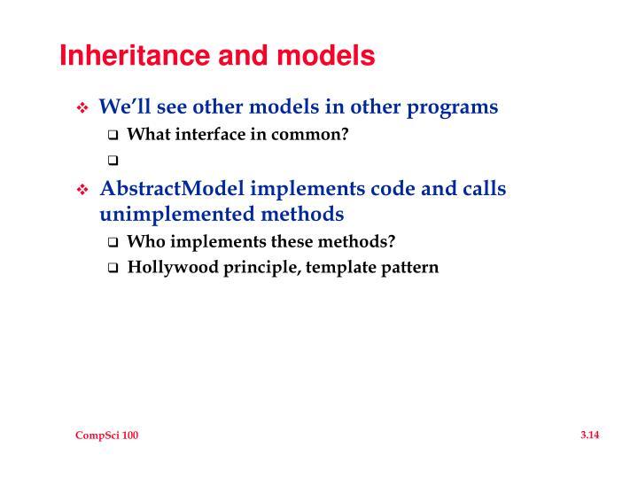 Inheritance and models