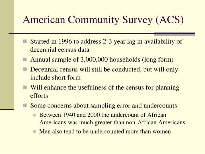 American Community Survey (ACS)