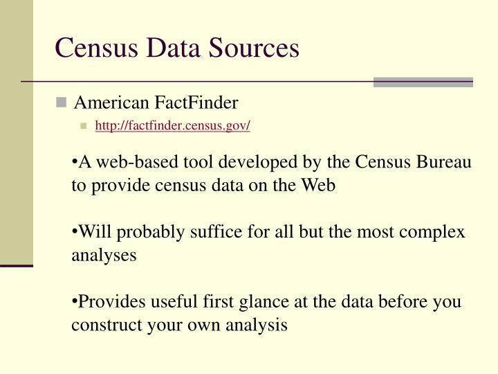 Census Data Sources