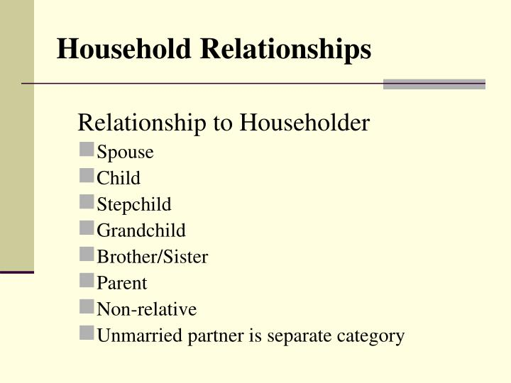 Household Relationships