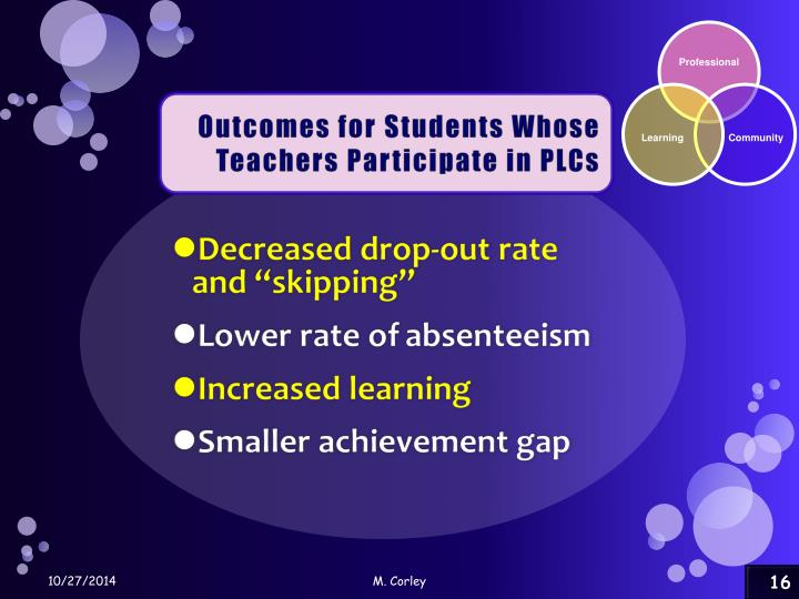 Outcomes for Students Whose
