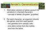 mendel s generalization