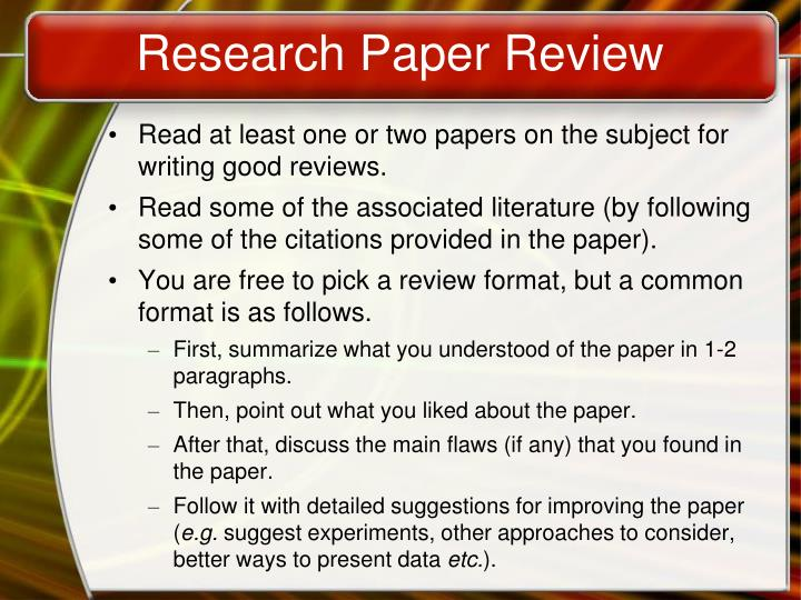 Research Paper Review