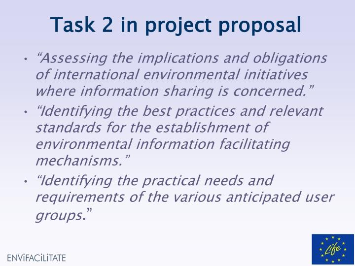 Task 2 in project proposal