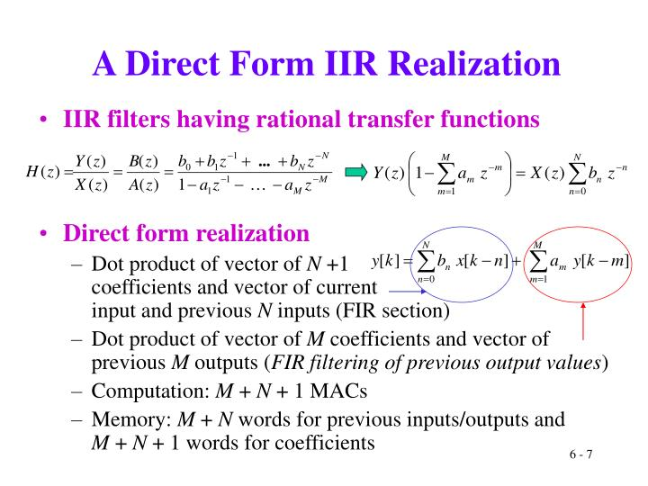 A Direct Form IIR Realization