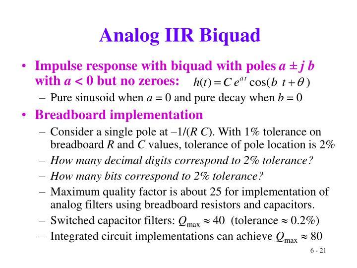 Analog IIR Biquad