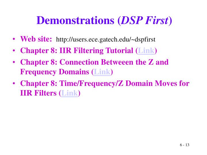 Demonstrations (