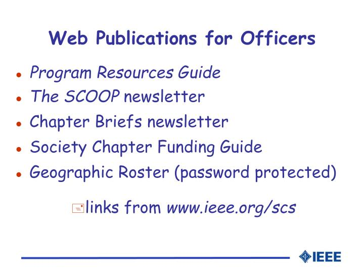 Web Publications for Officers