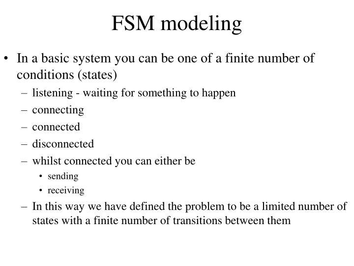 FSM modeling