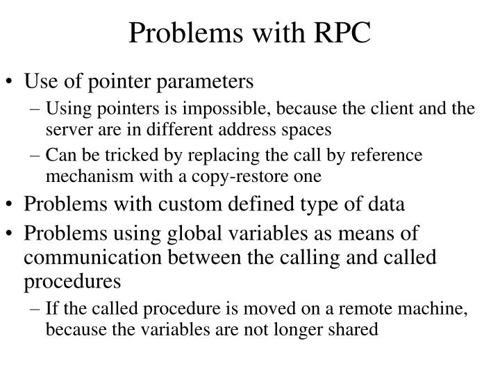 Problems with RPC