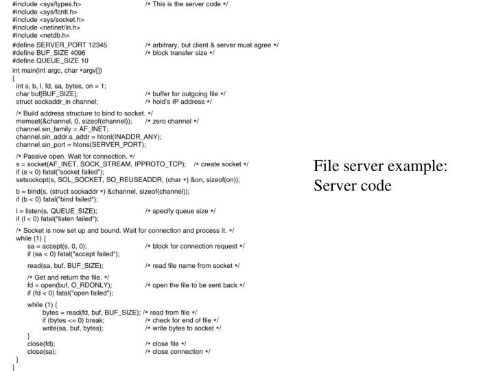 File server example: