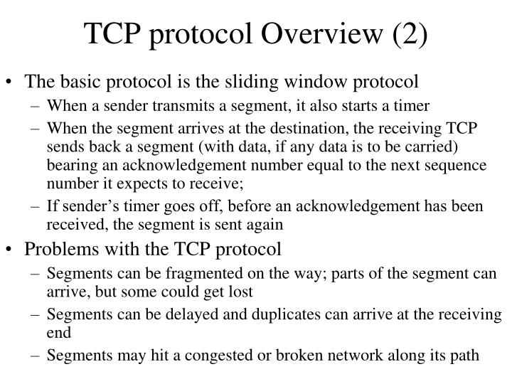 TCP protocol Overview (2)