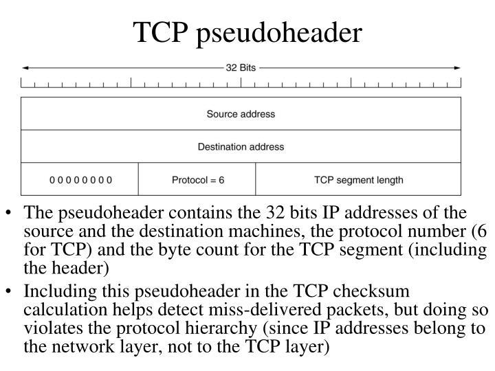 TCP pseudoheader