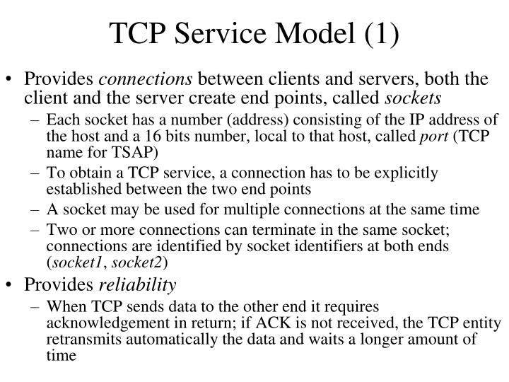 TCP Service Model (1)