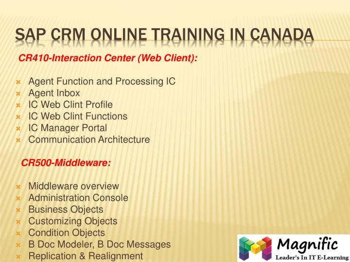 Cr500 crm middleware