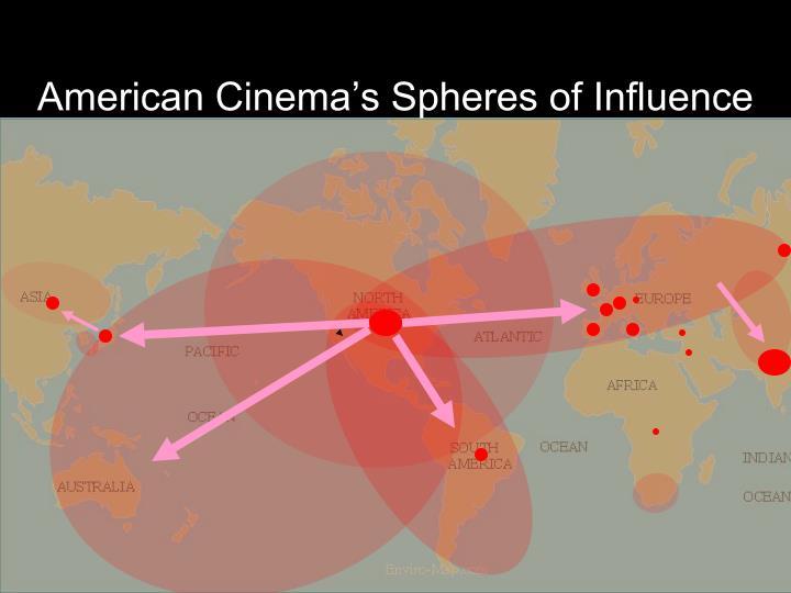 American Cinema's Spheres of Influence