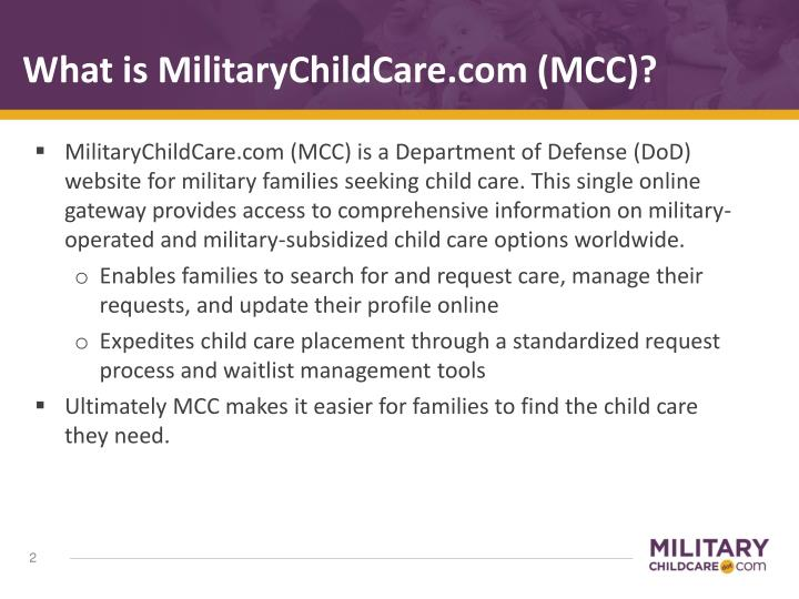 What is militarychildcare com mcc