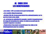 al cnds 2014 les beneficiaires