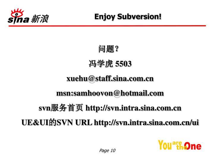 Enjoy Subversion!