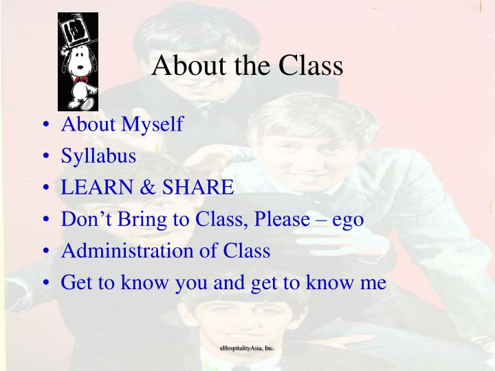 About the class