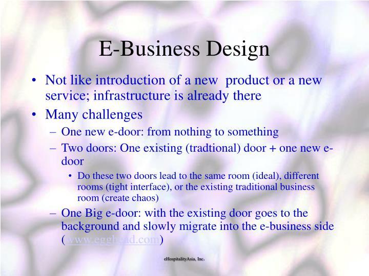 E-Business Design
