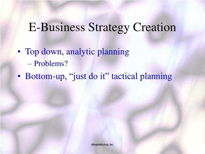E-Business Strategy Creation