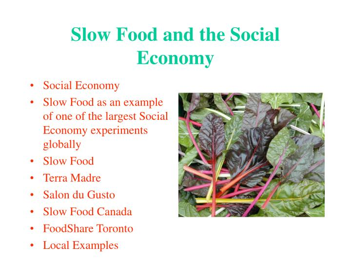 Slow food and the social economy