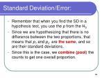 standard deviation error