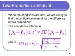 two proportion z interval