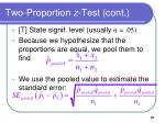 two proportion z test cont