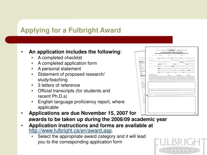 Applying for a Fulbright Award