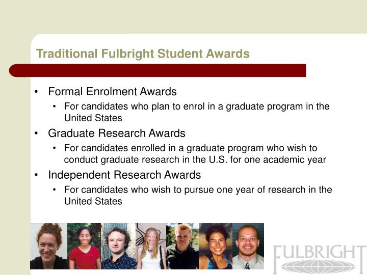 Traditional Fulbright Student Awards