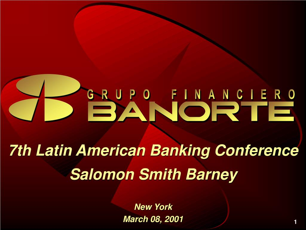 325101b8e103 7th Latin American Banking Conference Salomon Smith Barney - PowerPoint PPT  Presentation