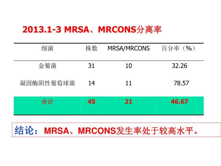 2013.1-3 MRSA