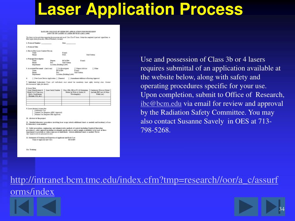 PPT - Basic Laser Safety Training PowerPoint Presentation