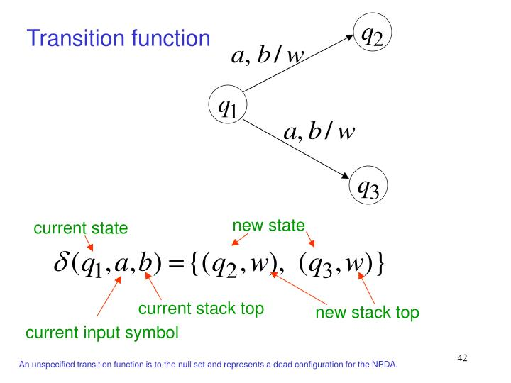 Transition function