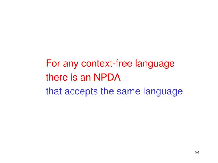 For any context-free language