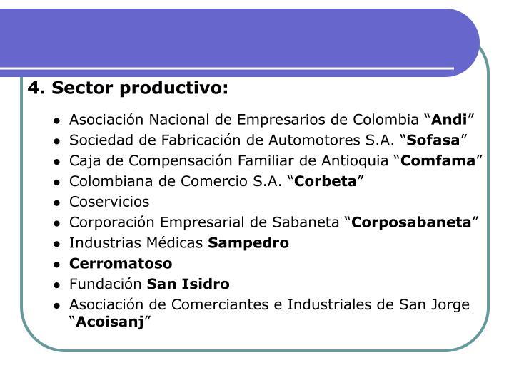 4. Sector productivo: