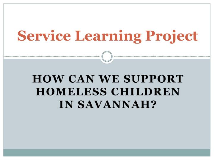service learning project n.