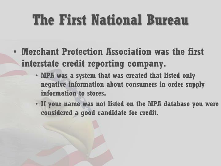 The First National Bureau